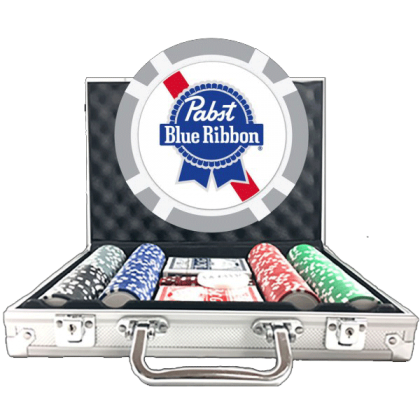 Premium Poker Chip Set - 8 Stripe