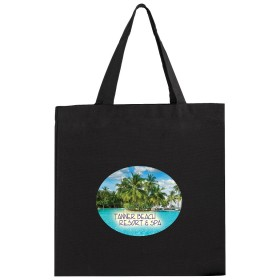 Color Canvas Tote Bags - Full Color Imprint