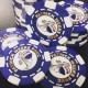 6 Stripe Custom Poker Chip - Direct Print