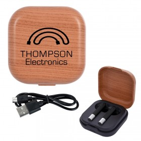 Woodtone Luxury Wireless Earbuds and Charging Base