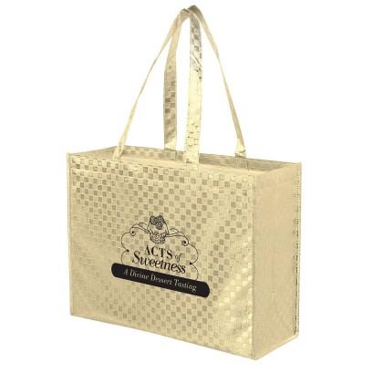 Designer Metallic Tote Bags - Personalized