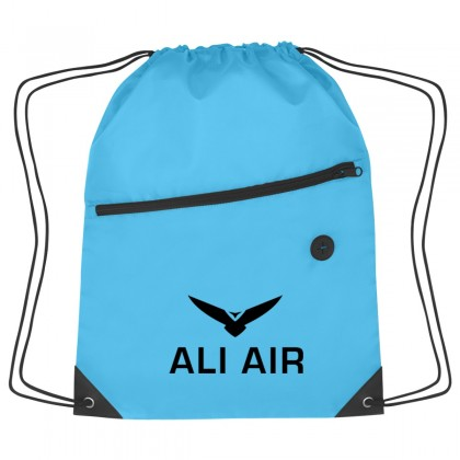 Hit Sports Backpack W/ Zipper - Customized