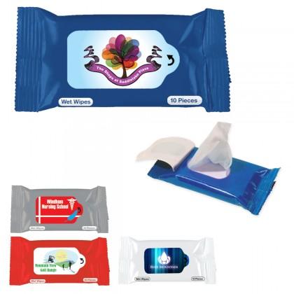 Custom Logo Antibacterial Wet Wipe Packets