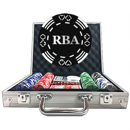 Royale Suited Poker Set - Striped Dice