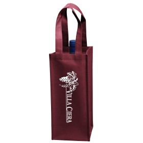 Custom Logo Wine Tote Bags - 1 Bottle Vineyard Collection