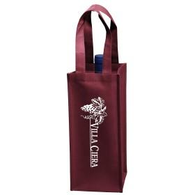 Custom Logo Wine Tote Bags - 1 Bottle Vineyard Collection
