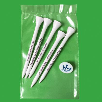 Custom Golf Tee Poly Packs - 51