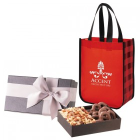 Executive Gift Set with Northwoods Laminated Non-Woven Tote Bag