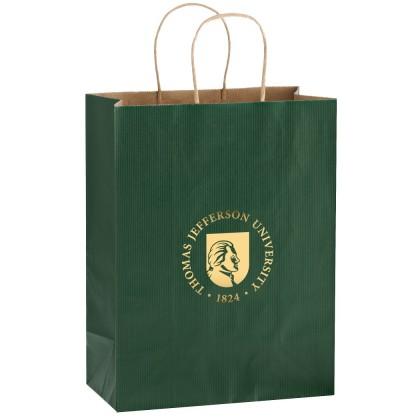 Matte Color Twisted Paper Custom Logo Shopper Bags