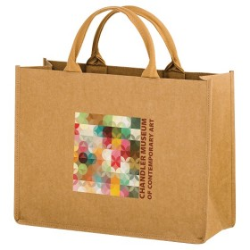 Full Color - Natural Kraft Paper Tote Bag w/ Web Handle - Hurricane