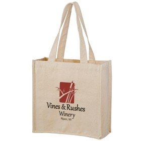 Heavyweight Wine Cotton Canvas Tote Bag - Personalized
