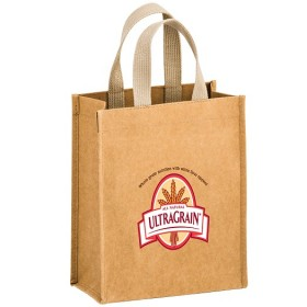Full Color Logo - Washable Natural Kraft Paper Tote Bag - Cyclone