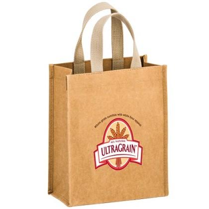 Full Color Logo - Washable Natural Kraft Paper Tote Bag - Cyclone