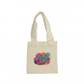 Party Favor Mini Canvas Tote Bags