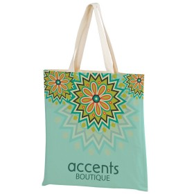 Sublimated Cotton Tote Bags - Full Color