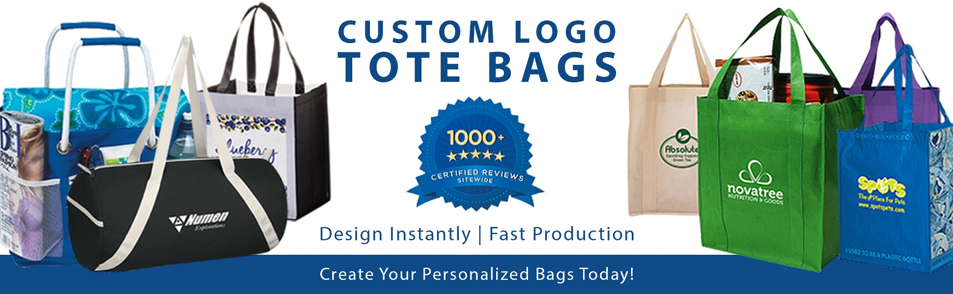 5ab8baa3f4 We offer a wide selection of cotton, canvas, polyester, non-woven and  metallic tote bags for all purposes. Each bag is customized with your logo.
